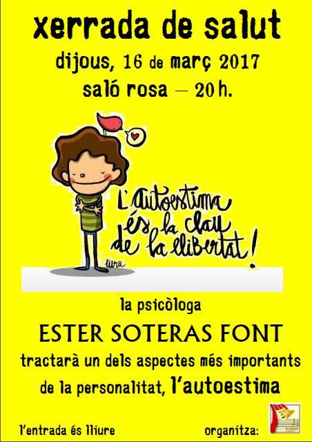 cartell xerrada autoestima kp 16-03-17
